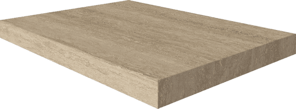 Italon Travertino Floor Project Romano Scalino Angolare Destro
