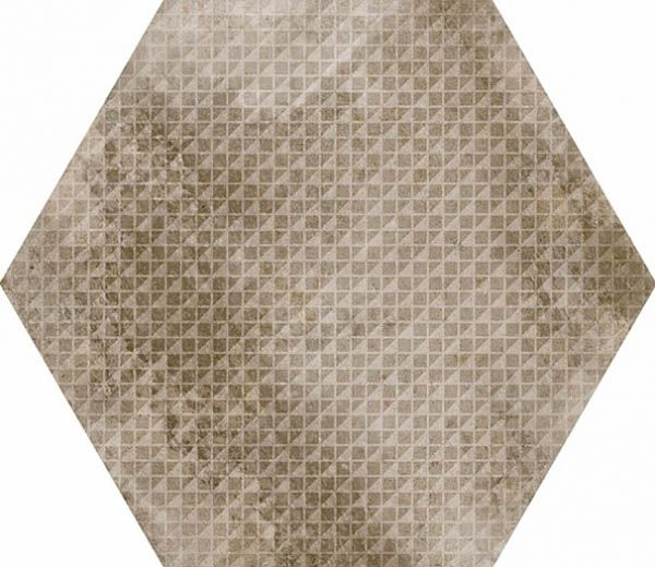 Equipe Ceramicas URBAN HEXAGON MELANGE NUT