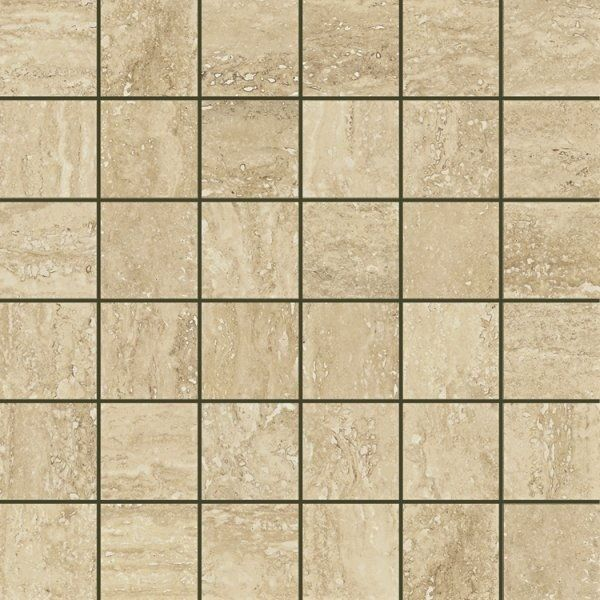 Italon Travertino Floor Project Romano Mosaico