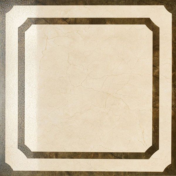 Italon Charme Floor Project Cream Inserto Frame 59x59