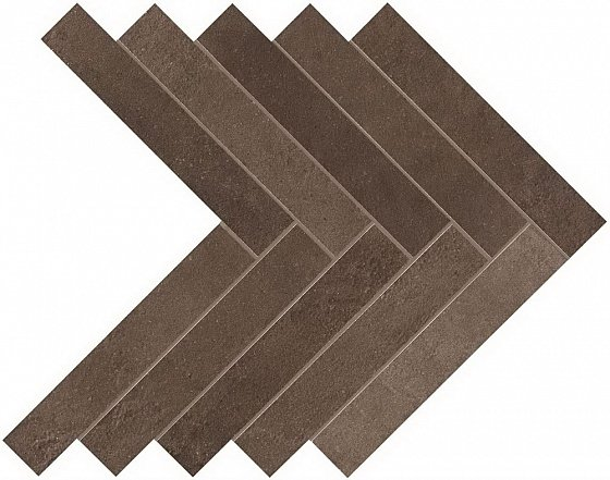 Atlas Concorde Italy Brown Leather Herringbone