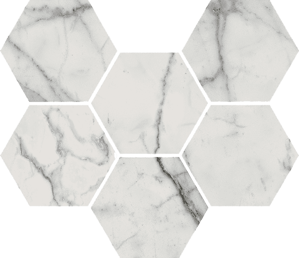 Italon Charme Evo Floor Project Statuario Mosaico Hexagon