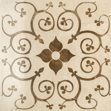 Italon Charme Floor Project Cream Inserto Bouquet 59x59