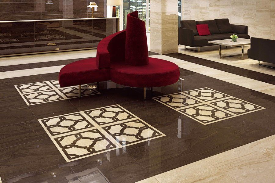 Плитка Atlas Concorde Suprema Floor Suprema Walnut Bottone Lap в интерьере